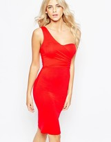 Love One Shoulder Midi Dress in Jersey