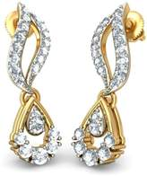 PEACOCK JEWELS 14K Yellow Gold 0.37 cttw White-Diamond (IJ | SI) Drop Earrings