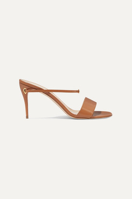 Jennifer Chamandi Andrea Leather Mules - Camel