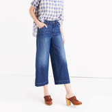 Madewell Wide-Leg Crop Jeans in Colvin Wash