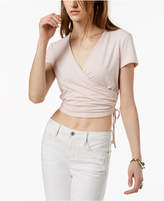 Ultra Flirt By Ikeddi Juniors' Cropped Wrap Top