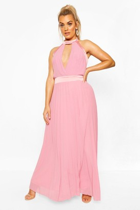 boohoo Plus Occasion Cut Out Occasion Maxi Dress