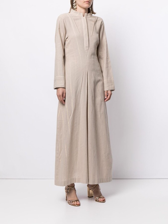 Thumbnail for your product : Bambah Pinstriped-Pattern Kaftan Dress
