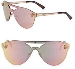 Versace 42MM Mirrored Shield Sunglasses