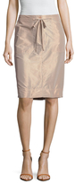 Tibi Penna Taffeta Cargo Pencil Skirt