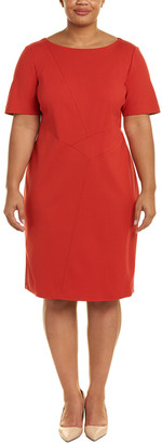 Lafayette 148 New York Plus Asymmetric Sheath Dress