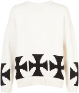 Enfants Riches Deprimes cross pattern sweater