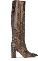 Paris Texas embossed snakeskin-print boots