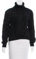 Gianni Versace Metallic Turtleneck Sweater