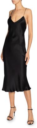 Saint Laurent Silk Midi Slip Dress