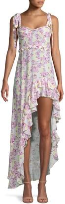 For Love & Lemons Caroline Floral High-Low Dress