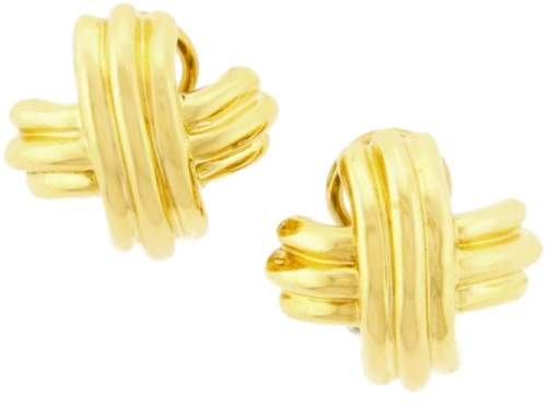 Tiffany & Co. Signature X 18K Yellow Gold Earrings