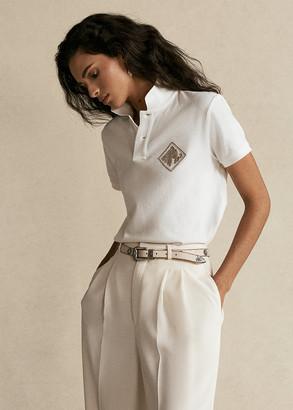 Ralph Lauren Beaded-Logo Polo Shirt