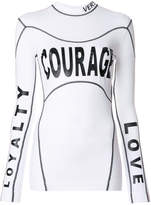 Versace Courage Loyalty Love top