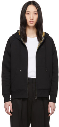 Burberry SSENSE Exclusive Black Raglan Hoodie