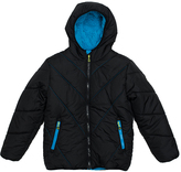 Big Chill Black Solid Bubble Jacket - Toddler & Boys