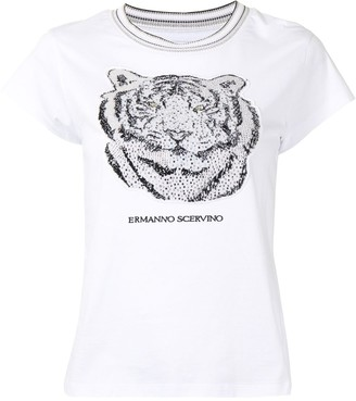 Ermanno Scervino crystal-embellished short sleeve T-shirt