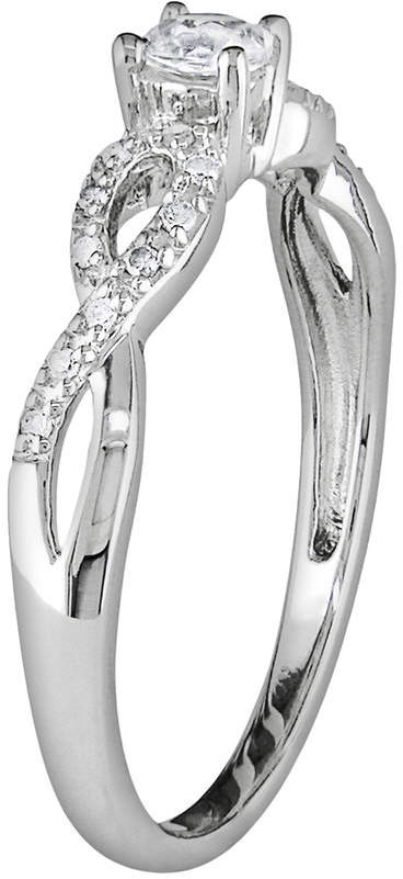 Kohl's Sterling Silver Lab-Created White Sapphire and Diamond Accent Infinity Ring