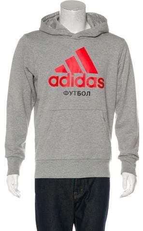 Gosha Rubchinskiy x adidas 2017 Logo Print Hoodie