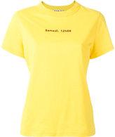 Jour/Né - slogan print T-shirt - women - Cotton - 36