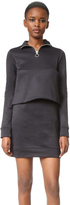 Marques Almeida Fleece Zip Up Dress with Overlay