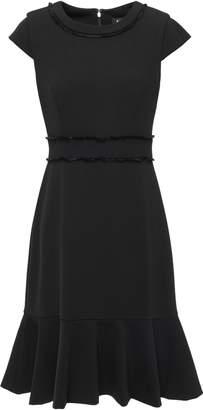 DKNY Fluted Frayed Stretch-crepe Dress