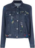 Love Moschino embroidered denim jacket - women - Cotton/Spandex/Elastane - 38