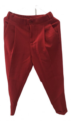 Benetton Red Cotton Trousers
