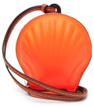 Loewe Paula's Ibiza - Seashell Leather Necklace Bag - Orange