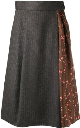 Barena Pinstripe Midi Skirt