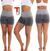 TD Collections Stretch Moisture Whicking Women's Ombre Yoga Running Workout Shorts (M, )