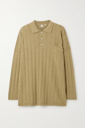 Totême Bonifacio Oversized Ribbed Merino Wool Sweater - Tan