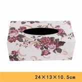 LOSTRYY Continental Creative leather rectangular tissue box