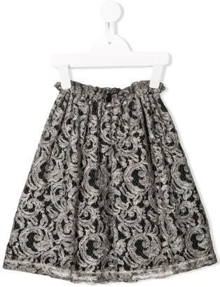 Andorine Flared Lace Skirt