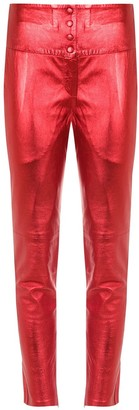 Andrea Bogosian Metallic Skinny Leather Pants