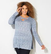 Avenue Criss Cross Neck Sweater