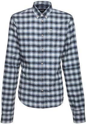 DSQUARED2 Check Cotton Button Down Shirt