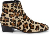 Aquatalia Fuoco Weatherproof Leopard Calf Hair Booties