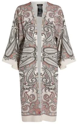 Etro Open-Front Paisley Kimono
