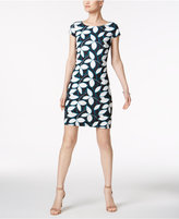 Nine West Printed Cap-Sleeve Dress