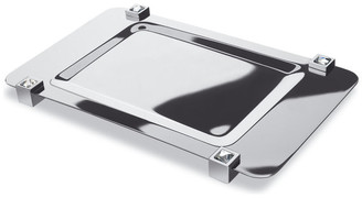 Swarovski W Luxury Moonlight Square Chrome Bathroom Tray With Crystals