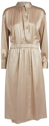 Brunello Cucinelli Glossy Shirt Dress