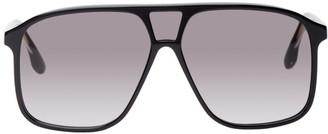 Victoria Beckham Black Flat Top Aviator Sunglasses