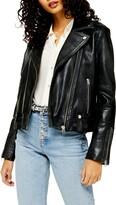 Topshop Mona Leather Biker Jacket