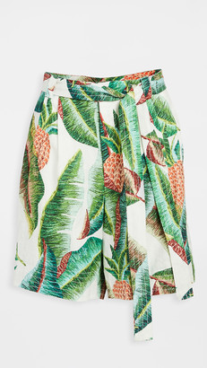 Farm Rio Forest Palm Linen Shorts