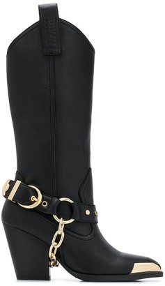 Versace Jeans Couture Toe-Tipped Boots