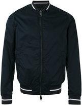 Armani Jeans striped cuff bomber jacket - men - Cotton/Polyester/Spandex/Elastane - 48