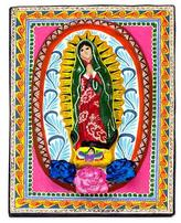 Religious Ceramic Wall Art, 'Little Guadalupe'