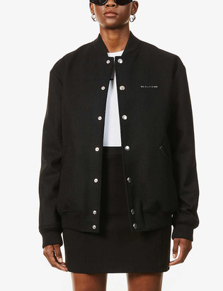 Alyx Logo-embroidered relaxed-fit wool-blend bomber jacket