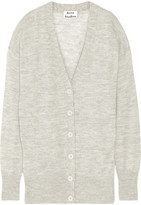 Acne Studios Rhoda Oversized Mélange Alpaca And Merino Wool-blend Cardigan - Light gray